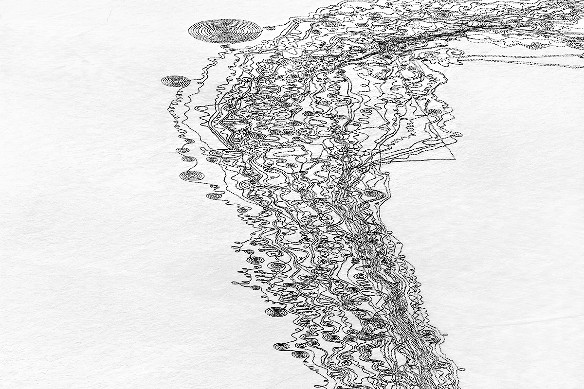 Line Drawing Water : We are the water snow drawings project sonja hinrichsen